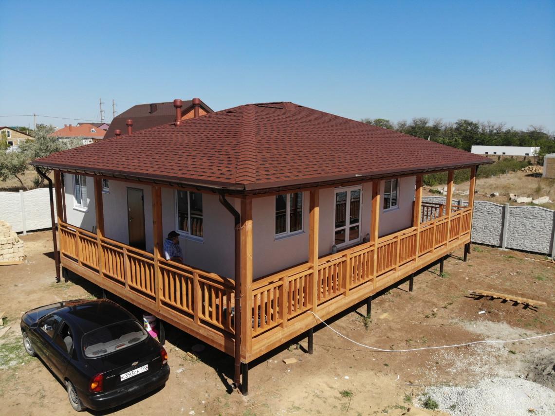 Дом из СИП панелей с террасой