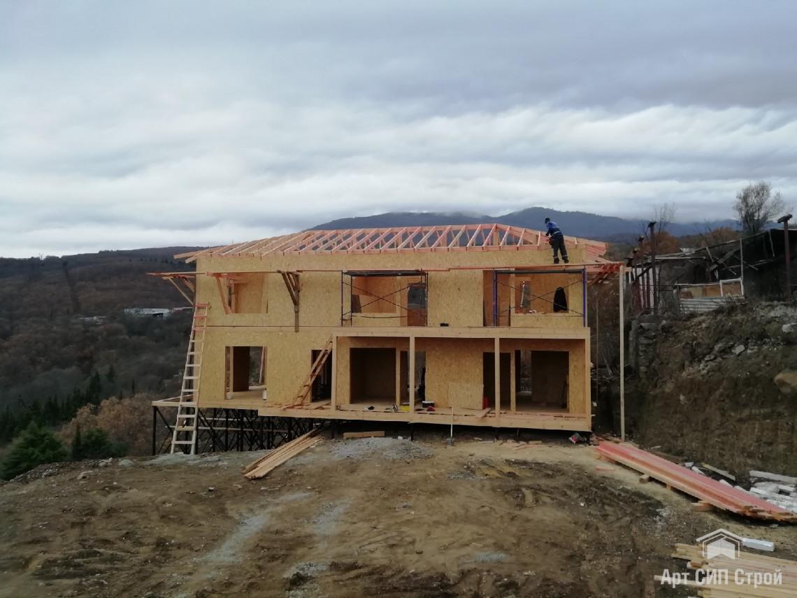 Этапы строительства дома из СИП панелей